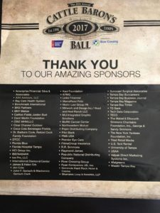 PGI sponsored the American Cancer Society's Tampa Cattle Baron's Ball.