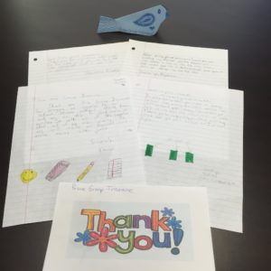 These sweet thank-you notes were written by students who received our donations of school supplies through the Hillsborough Education Foundation.