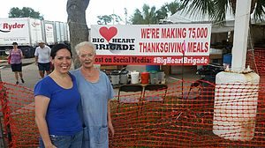 Big Heart Brigade in Palm Beach Jessica Morneault and her mom provided a holiday meal for community members through the Big Heart Brigade! The Brigade's mission is to enrich the lives of those in need by providing a holiday meal or some much needed support to members of our community.